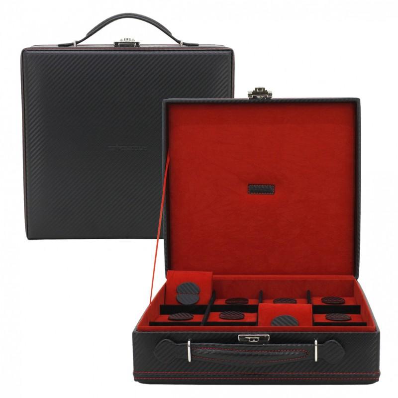 Kazeta na hodinky Friedrich Lederwaren Carbon 32054-2