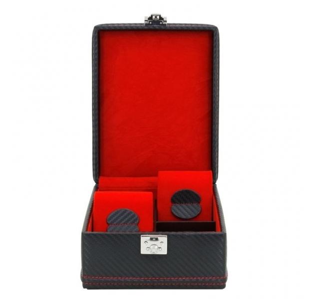 Kazeta na hodinky Friedrich Lederwaren Carbon 32049-2
